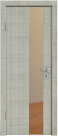 Дверь Модерн ДО-504 дуб серый (зеркало бронза)