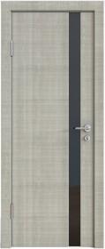 Дверь Модерн ДО-507 дуб серый (стекло черное)