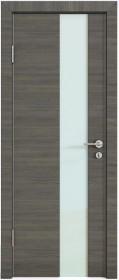 Дверь Модерн ДО-504 ольха темная (стекло белое)
