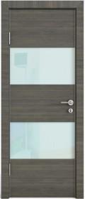 Дверь Модерн ДО-508 ольха темная (стекло белое)