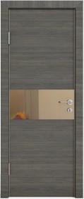 Дверь Модерн ДО-501 ольха темная (зеркало бронза)
