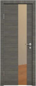 Дверь Модерн ДО-504 ольха темная (зеркало бронза)