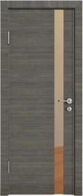 Дверь Модерн ДО-507 ольха темная (зеркало бронза)