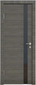 Дверь Модерн ДО-507 ольха темная (стекло черное)