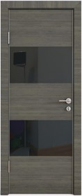 Дверь Модерн ДО-508 ольха темная (стекло черное)