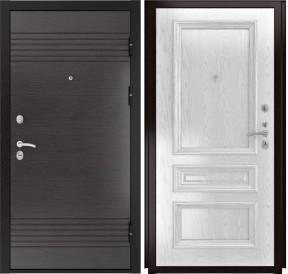 Дверь Luxor 7 Фараон 2 дуб белая эмаль шпон
