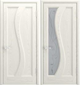 Дверь Эрида-1 Lux дуб RAL 9010