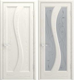 Дверь Эрида-2 Lux дуб RAL 9010