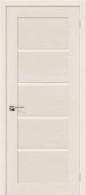 Дверь Евро-10 беленый дуб (Ф-23)