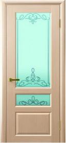 Дверь Валентия 2 Lux Legend беленый дуб со стеклом