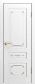Дверь Лестер L-3 белый с золотом