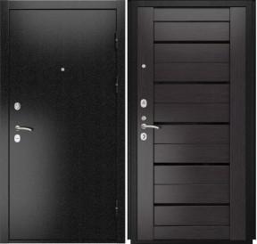 Дверь Luxor 3b Лу 22 венге экошпон стекло черное