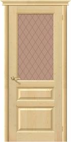Дверь М 5 без отделки со стеклом