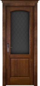 Дверь Массив ольхи Фобор античный орех со стеклом