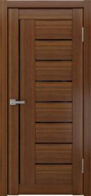 Дверь Luxor 17 орех темный стекло черное