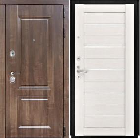 Дверь Luxor 22 Лу 22 беленый дуб экошпон стекло белое