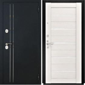 Дверь Luxor 37 Лу 22 беленый дуб экошпон стекло белое