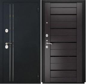 Дверь Luxor 37 Лу 22 венге экошпон стекло черное