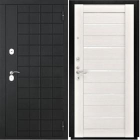 Дверь Luxor 36 Лу 22 беленый дуб экошпон стекло белое