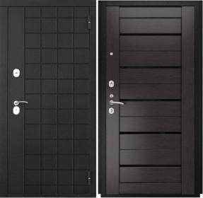Дверь Luxor 36 Лу 22 венге экошпон стекло черное