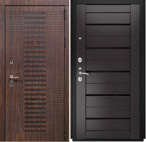 Дверь Luxor 33 Лу 22 венге экошпон стекло черное