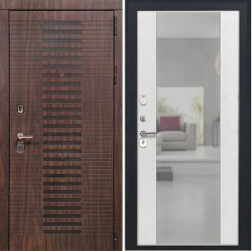 Дверь Luxor 33 Алиса ясень белый зеркало