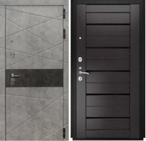Дверь Luxor 31 Лу 22 венге экошпон стекло черное