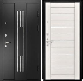 Дверь Luxor 28 Лу 22 беленый дуб экошпон стекло белое