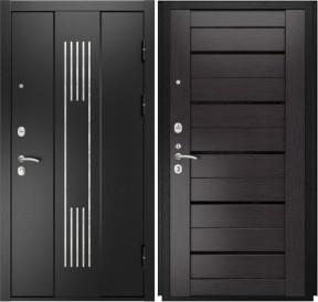 Дверь Luxor 28 Лу 22 венге экошпон стекло черное