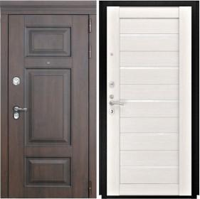 Дверь Luxor 21 Лу 22 беленый дуб экошпон стекло белое