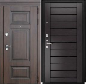 Дверь Luxor 21 Лу 22 венге экошпон стекло черное