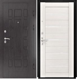 Дверь Luxor 5 Лу 22 беленый дуб экошпон стекло белое