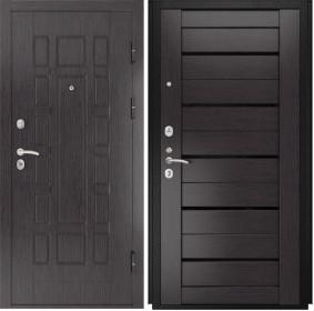 Дверь Luxor 5 Лу 22 венге экошпон стекло черное