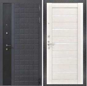 Дверь Luxor 34 Лу 22 беленый дуб экошпон стекло белое
