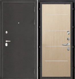 Дверь Колизей темное серебро Лайт MD 003 беленый дуб пвх