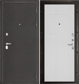Дверь Колизей темное серебро Лайт MD 003 белый ясень пвх