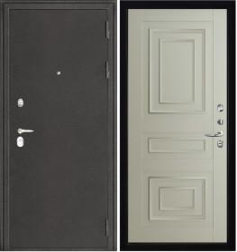 Дверь Колизей темное серебро Florence 3D 62001 серена светло-серый экошпон