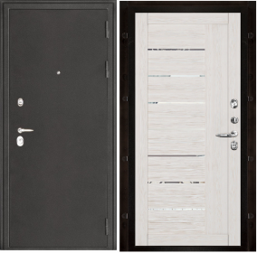 Дверь Колизей темное серебро 2110 капучино велюр экошпон