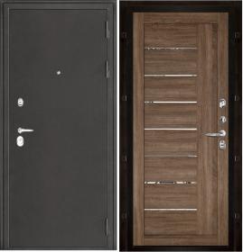 Дверь Колизей темное серебро 2110 серый велюр экошпон