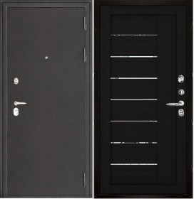 Дверь Колизей темное серебро 2110 шоко велюр экошпон