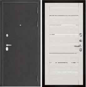 Дверь Колизей темное серебро 2125 капучино велюр экошпон