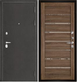 Дверь Колизей темное серебро 2125 серый велюр экошпон