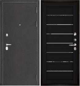 Дверь Колизей темное серебро 2125 шоко велюр экошпон