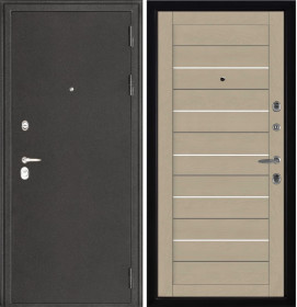 Дверь Колизей темное серебро 2127 кремовый Soft-touch экошпон