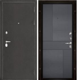Дверь Колизей темное серебро Fusion Grigio (RAL 7015) шпон