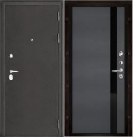 Дверь Колизей темное серебро Uno Grigio (RAL 7015) шпон