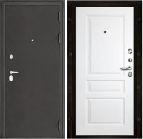 Дверь Колизей темное серебро Турин белая эмаль