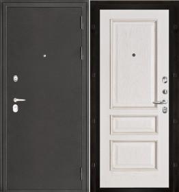 Дверь Колизей темное серебро Вена белая патина шпон