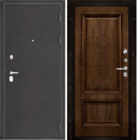 Дверь Колизей темное серебро Корсика дуб brandy шпон