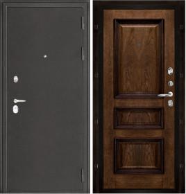 Дверь Колизей темное серебро Барселона дуб brandy шпон